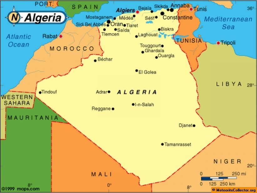 Of Algeria - Algeria map